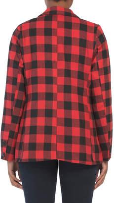 Juniors Checkered Blazer