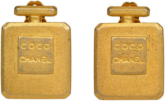 One Kings Lane Vintage Chanel Collectible Coco Bottle Earrings - Vintage Lux