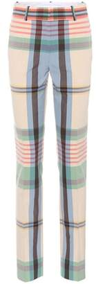 Victoria Beckham Plaid cotton trousers