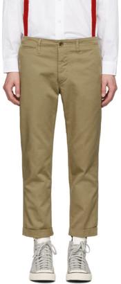 Visvim Beige High Water Chino Trousers