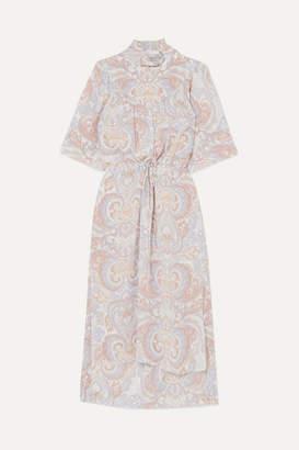 See by Chloe Printed Silk-georgette Midi Dress - Gray