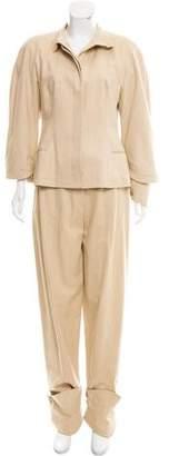 Gianfranco Ferre Wool High-Rise Pantsuit