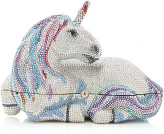 Judith Leiber Couture Lunaria Unicorn Crystal Clutch