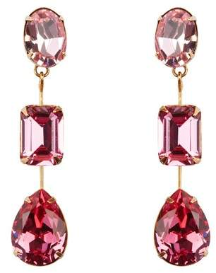 Jennifer Behr Allanah Pink 3 Drop Earrings