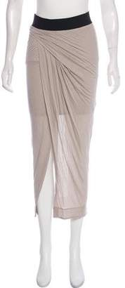 Helmut Lang Draped Midi Skirt w/ Tags