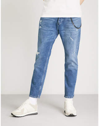 The Kooples Cropped straight-leg mid-rise jeans
