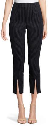 Frame Striped Split-Front Cropped Pants
