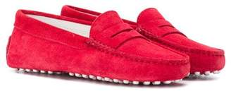 Tod's Kids classic red loafers