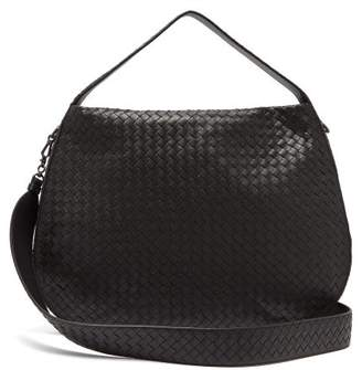 Bottega Veneta City Veneta Intrecciato Leather Bag - Womens - Black