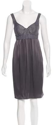 Proenza Schouler Silk-Accented Knee-Length Dress