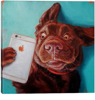 iCanvas icanvasart Dog Selfie By Lucia Heffernan