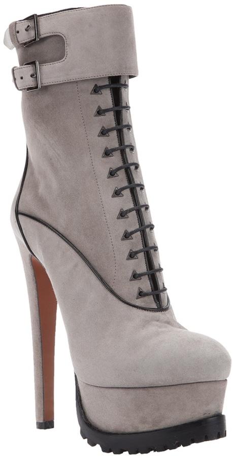 Alaia Lace up platform boot