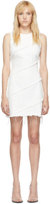 Alexander Wang White Diagonal Seamed Dress