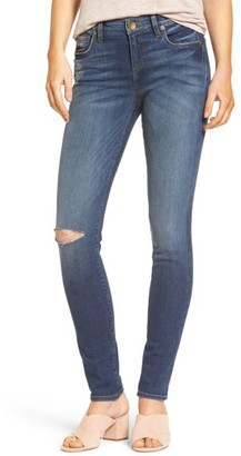 Women's Kut From The Kloth Diana Ripped Stretch Skinny Jeans $89.50 thestylecure.com