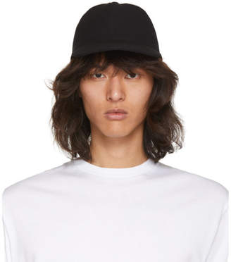 Christian Dada Black Wool Lace-Up Cap