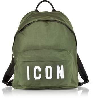 DSQUARED2 Icon Khaki Nylon Medium Backpack
