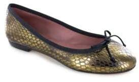 White Mountain Summit By Kendrick SI0504 Snake Print Leather Ballet Flats