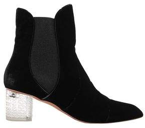 Alaia Velvet And Perspex Ankle Boots