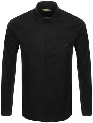 Versace Long Sleeved Chest Logo Shirt Black