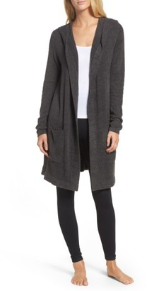 Women's Barefoot Dreams Cozychic Lite Coastal Hooded Cardigan $114 thestylecure.com