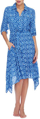 Jantzen Ocean Blue Button Through Midi Dress
