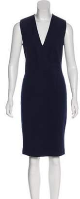 Givenchy V-Neck Sleeveless Dress Navy V-Neck Sleeveless Dress