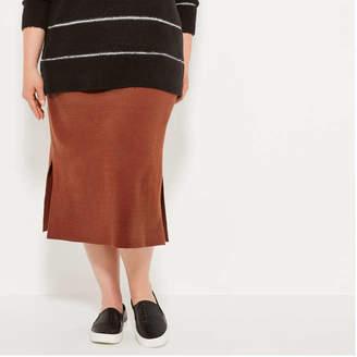 Joe Fresh Women+ Knit Skirt, Black (Size 3X)