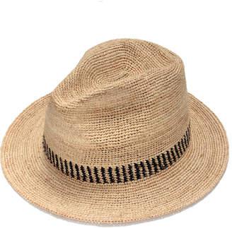 Justine Hats Textured Straw Fedora Hat
