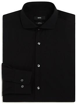 Solid Basic Regular Fit Dress Shirt