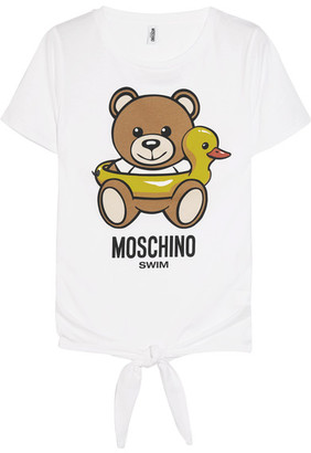 Moschino - Printed Cotton T-shirt - White $155 thestylecure.com