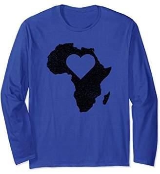 "The Official Africa ""Love Heart"" Long Sleeve T-Shirt (Black)"
