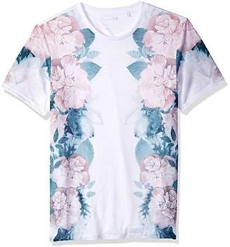GUESS Men's Short Sleeve Wynn Floral Print Crew