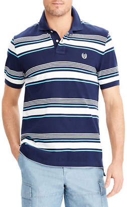 Chaps Big and Tall Stretch Mesh Striped Polo