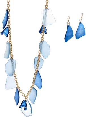 Linea By Louis Dell'olio by Louis Dell'Olio Beach Glass Necklace and Earring Set