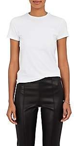 ATM Anthony Thomas Melillo Women's Stretch-Pima Cotton Fitted T-Shirt - White