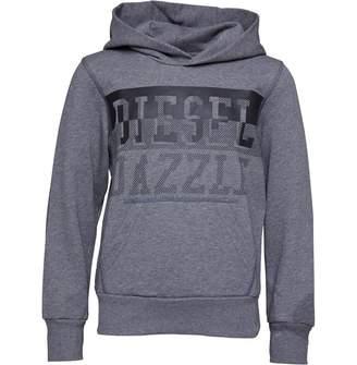 Diesel Boys Sidev Hoodie Grey