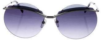 Marc Jacobs Round Gradient Sunglasses
