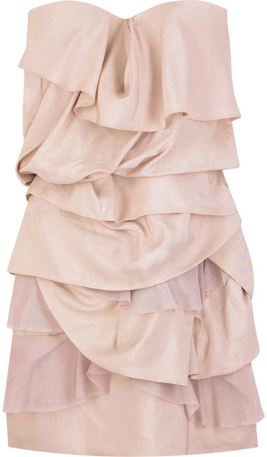 Camilla and Marc Elodi silk tiered dress