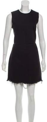 Alexander Wang Sleeveless Raw-Edge Dress w/ Tags Black Sleeveless Raw-Edge Dress w/ Tags
