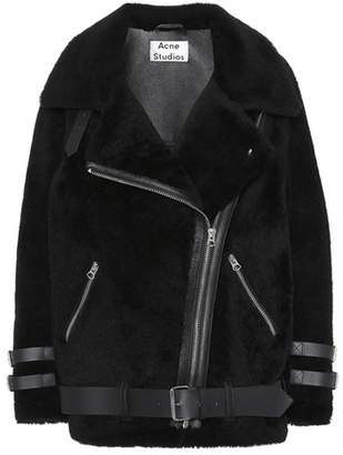 Acne Studios Velocite leather-trimmed shearling jacket