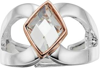 JLO by Jennifer Lopez Two Tone Simulated Crystal Stretch Ring