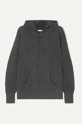 Skin - Waffle-knit Wool-blend Hoodie - Charcoal