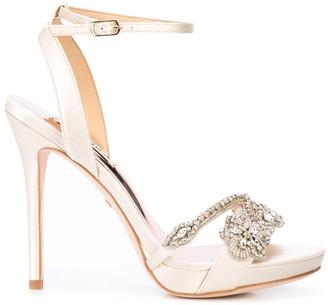 Badgley Mischka crystal-embellished stiletto pumps