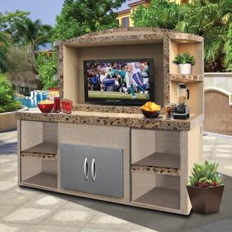 "Freeport Park Cristina Outdoor Entertainment Center Serving Bar for TVs up to 50"" Freeport Park"