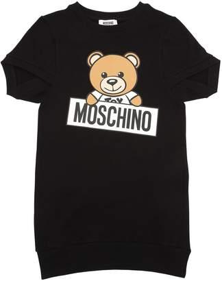 Moschino Teddy Bear Print Cotton Sweatshirt Dress
