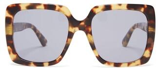 Gucci Oversized Square Frame Sunglasses - Womens - Tortoiseshell