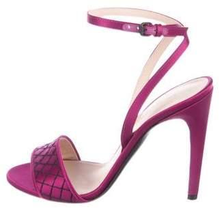 Bottega Veneta Satin Ankle-Strap Sandals w/ Tags