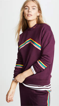 Etre Cecile Chevron Rib Boyfriend Sweatshirt