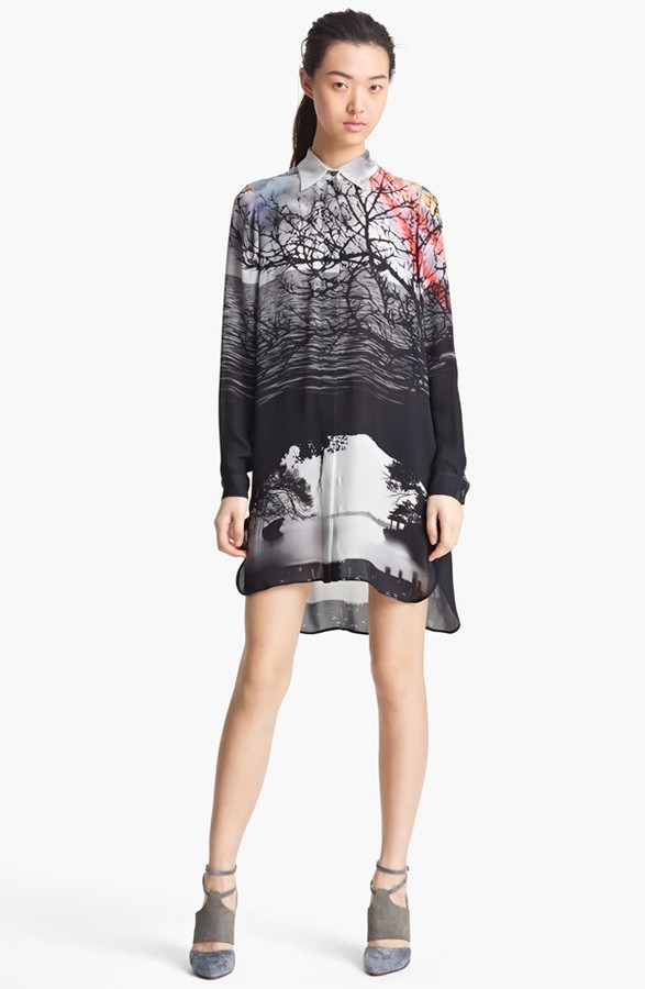 Mary Katrantzou Print Silk Shirtdress