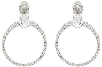 Miu Miu crystal circle earrings